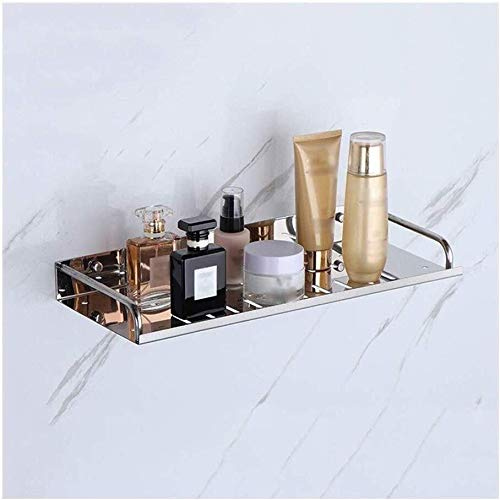 Best Prices! AINIYF Bathroom Shelf Tempered Glass Rectangular Shower Caddy Storage Organizer, No Dam...