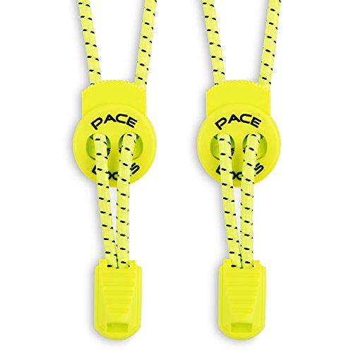 ALPHAPACE Pace Locks – elastyczne sznurówki, sznurowadła bez wiązania, zapięcie typu slip-on, dla sportowców, młodzieży i osób starszych, 120 cm