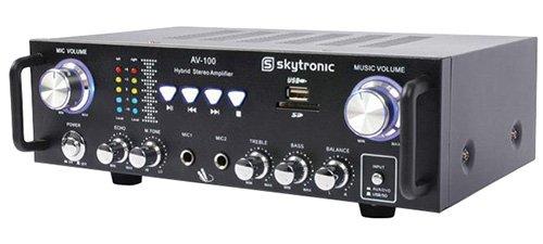 #01 - Skytronic 103.208 AV-100 Amplificatore Stereo, Nero