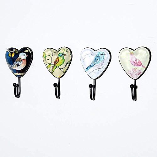Kuke Vintage Wandhaken Dekorative Wandhaken Robuste Metallhaken im Haken Retro, 11 * 6 * 3.5 cm, zum Aufhängen von Schlüsseln, Schals, Taschen, Schmuck, Handtüchern, 4 Stück