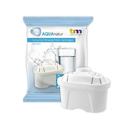 TM Electron Tmfil001 30 a 60 días compatible con las jarras brita maxtra, 1 cartucho de filtro purifica de 100 a 200 litros de agua, Malla de plástico, Blanco, 1 Unidad