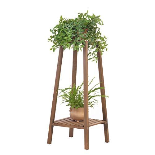 Grand Support pour Pot, Petit Plateau, PréSentoirs à Fleurs éTagèRe à Fleurs en Bois à 2 Niveaux éTagèRe pour Balcon à L'IntéRieur éTagèRe d'angle pour IntéRieur