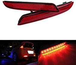 iJDMTOY Red Lens LED Bumper Reflector Lights for Honda CR-Z CR-V Insight Acura TSX Wagon