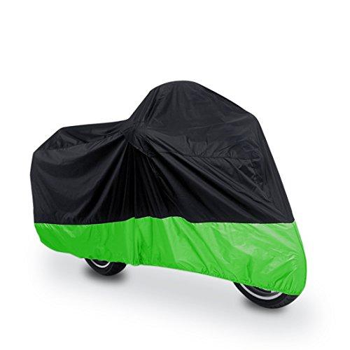 Preisvergleich Produktbild sourcing map® XXXL 180T Regen Staub Motorradabdeckung Schwarz+Grün Außen wasserdicht UV Schutz DE de