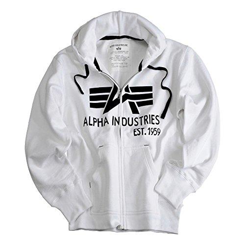 Alpha Industries Big A Classic Zip Hoody weiß Größe L
