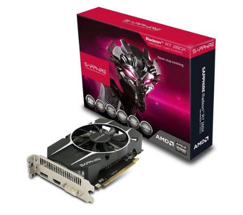 Sapphire RADEON R7 260X OC - Grafikkarten - Radeon R7 260X - 1 GB GDDR5 - PCI Express 3.0 x16 - DVI, HDMI, DisplayPort - Lite Retail + Adapter DVI (M) / HDMI (W) (AD00027-R1)