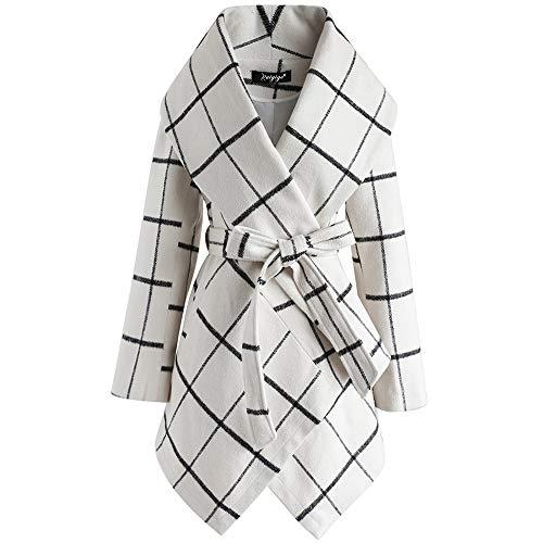 Baige Langarmgürtelmantel für Damen, übergroße Strickjacke, weicher Stretch-Fit-Mantel, warme Trenchjacke