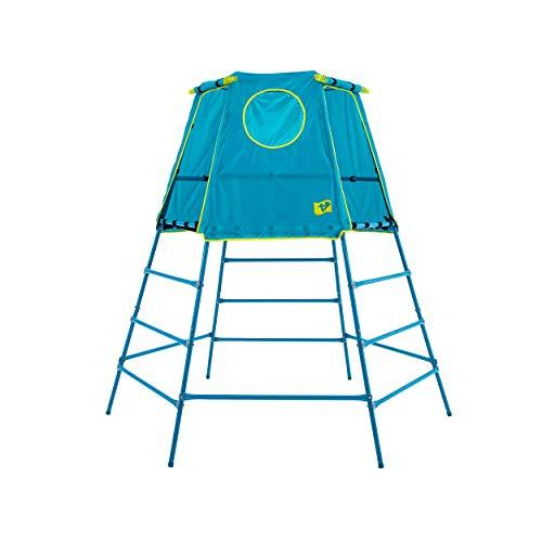 TP Toys Explorer 2 Climbing Set Jungle Gym with Platform and Tent, Blue