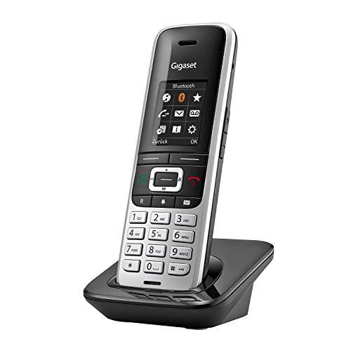 Gigaset S850- Schnurloses Telefon ohne Anrufbeantworter mit extragroßem Adressbuch-Headsetanschluss & Reichweitenwarnton-Freisprechfunktion-optische Signalisierung entgangener Anrufe, platin-schwarz