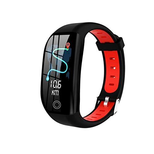 LXF JIAJU para Dooge Smart Pulsera GPS Rastreador IP68 Ritmo Cardíaco Reloj De Presión Arterial Reloj De Banda Inteligente (Color : Red)