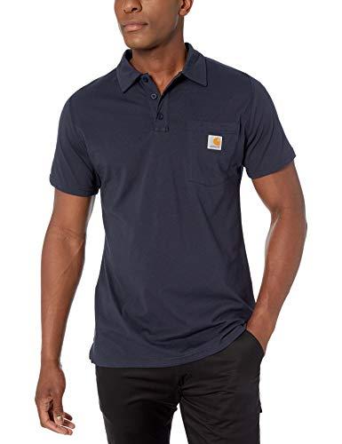 Carhartt Hombre 103569 Manga Corta Camisa Polo - Azul - Small