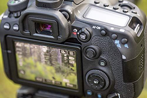 Canon EOS 90D Spiegelreflexkamera Gehäuse - mit Objektiv EF-S 18-55mm F3.5-5.6 IS STM (32,5 MP, 7,7 cm (3 Zoll) Vari-Angle Touch LCD Display , APS-C Sensor, 4K, Full-HD, WLAN, Bluetooth), schwarz