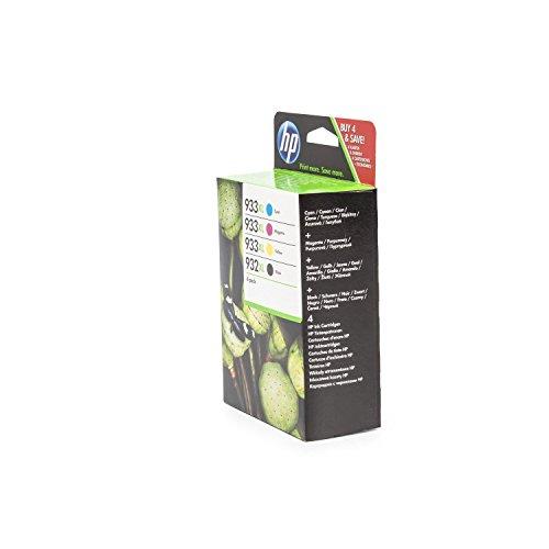 Original HP C2P42AE / 932XL, 933XL, für OfficeJet 6700 Premium 4x Premium Drucker-Patrone, Schwarz, Cyan, Magenta, Gelb, 1x 1000, 3x 825 Seiten