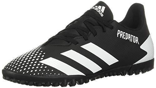 adidas Predator 20.4 Turf Soccer Shoe (unisex-adult) Black/White/Black