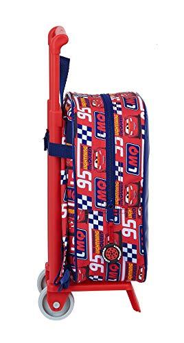 416kefZN yL - Mochila Guardería Ruedas, Carro, Trolley Cars de safta 612011280, Multicolor