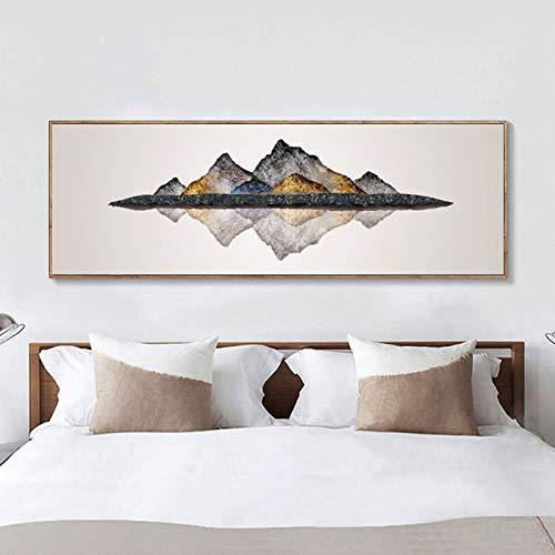 Abstrakte Kunst Ölgemälde Poster und Drucke Wandkunst Leinwand Malerei Bergbilder für Wohnzimmer Wohnkultur 40x120cm