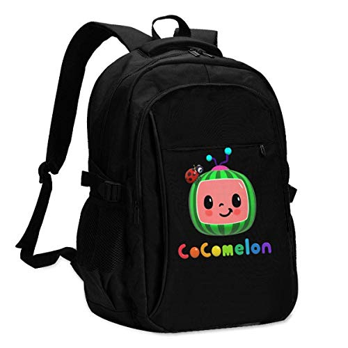HOIH CocoMelon Student College Bag, Fits For13,16 Inch Laptop USB Charging Port Traveling Backpack