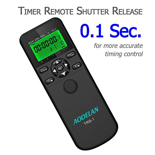 Timer Shutter Release Intervalometer with LCD and HDR for Canon EOS RP 5DS 5D 6D 7D 10D 80D D60 D30; Olympus OM-D E-M1 Mark II; Fujifilm GFX 50R,X-T3; Pentax ; Hasselblad; Samsung and Sigma
