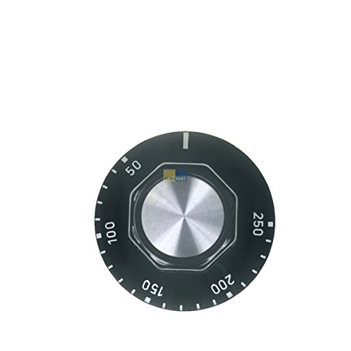 Knebel Drehknopf 50mm schwarz 50-250° universell Backofen Ofen EGO 00.00524.820