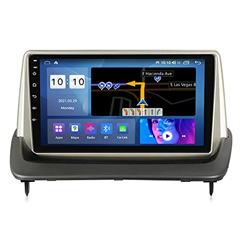 Amimilili Android 10 Radio estéreo para Coche para Volvo S40 C30 C70 2004-2012 GPS Navigator Supports WiFi FM Bluetooth USB Enlace Espejo Control del Volante Cámara Trasera,M500s