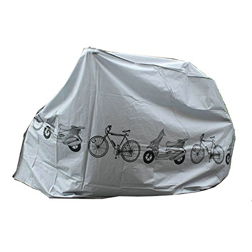 Yizhet Coperta per Bicicletta, Telo Copri Bicicletta Impermeabile Copertura Biciclette da Esterno Custodia Bici Protettivo Biciclette Antipolveri Telo Copribici Bici Anti-UV (210 x 100cm)