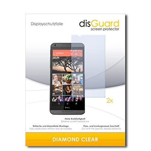 disGuard 2 x Bildschirmschutzfolie HTC Desire 820 Dual SIM Schutzfolie Folie DiamondClear unsichtbar