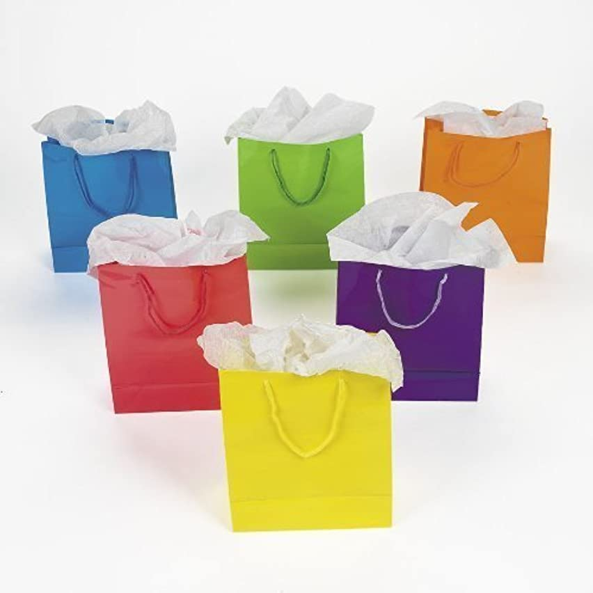 Fun Express Medium Neon Gift Bags, 2-Dozen, 9-Inch Tall