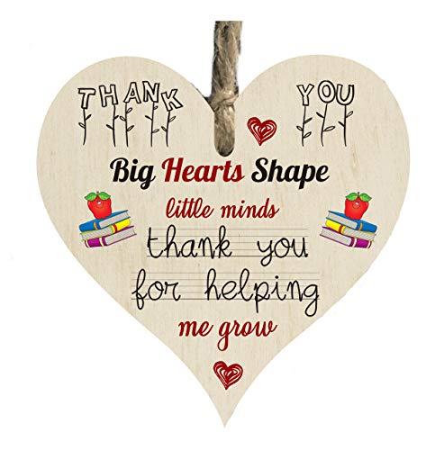 the sticker studio ltd School Teacher Thank you Leaving Grow Quote Wooden...
