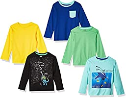 Spotted Zebra 5-Pack Long-Sleeve T-Shirts Bambino, Pacco da 5