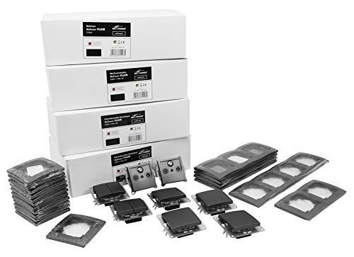 MC POWER - FLAIR - Wand Steckdosen und Schalter Set | Einfamilienhaus | 95-teilig | anthrazit, matt