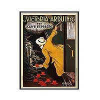 IYUFIL ヴィンテージフレンチラビクトリアアルドゥイーノコーヒーレトロフランスプリントアート家の装飾アートワークポスタールーム家の装飾-50X70Cmフレームなし1個