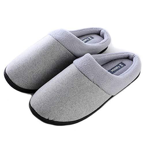 Unisex Memory Foam Slipper|Women's Cozy Slippers|Fuzzy Wool-Like Fleece House Shoes| Man's Indoor...