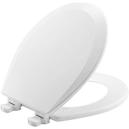 Soft Toilet Seat Easily Removes ELONGATED Padded with Wood Core White