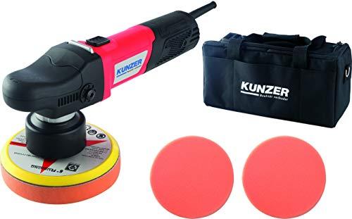 KUNZER (7PME04.1) Exzenter-Poliermaschine 150mm Teller - 9mm Orbit – 950W Polierer inkl. Zubehör – Für KFZ, Boot, Auto