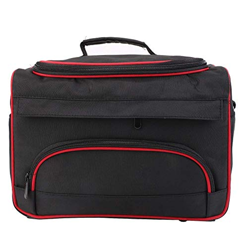 YLLN Travel Makeup Bag, Large Storage Multi-Function Cosmetic Bag Barber Case, Portable Hairdressing Makeup Home Hair Stylist Tool Bag, with Shoulder Straps, for Travel and Makeup Bag