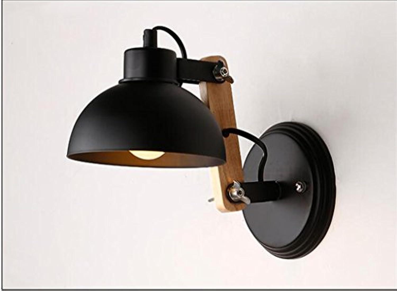 GYP Study Wandleuchte Holztreppe Aisle Bett Einstellbare Eisen Wandleuchte ( Farbe   Schwarz )