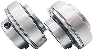 Liyafy UC204-UC200 Series Insert Bearing Relubricable Chrome Steel Set Screw Locking Collar Single Lip Seal 2Pcs
