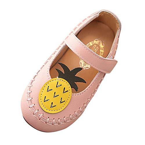 Baby Shoes Beach Sandals,Ewendy Petite Fille Mignonnes Fruits Chaussures Chaussures à Semelle Souple Ananas Chaussures de Sport décontractées (3-3.5, Rose)