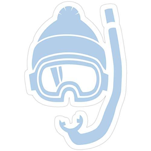 DKISEE Pegatinas para mochila de buceo con polvo profundo de nieve (3 piezas/paquete) para portátil de 4 pulgadas
