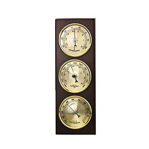 ZYD 3Pcs / Set Hygrometer Manometer Thermometer Barometer mit Holzrahmen Basis-Verzierung/Wetterstation Instrument,A