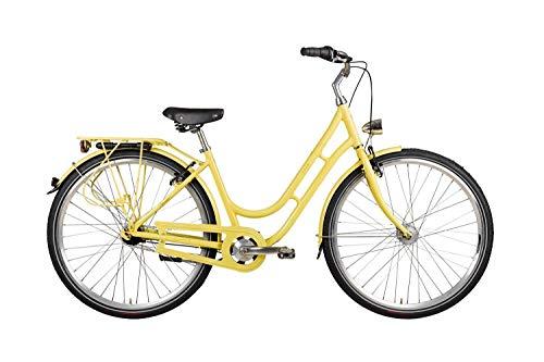 "28"" Zoll Alu VAUN Damen Fahrrad City Bike Shimano Nexus Nabendynamo Rh50 gelb"