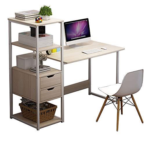 QINJIE Escritorio Simple para computadora de Escritorio, Escritorio para el hogar, Escritorio, Mesa de Esquina Moderna combinada,Beige,47.2 * 15.7 * 43.3 Inches