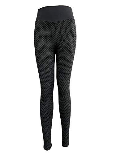 WUOOYOQ Leggings Butt Lift para mujer, pantalones de yoga, deporte, entrenamiento, cintura alta, mallas de compresión negro L