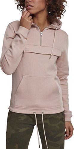 Urban Classics Damen Ladies Sweat Pull Over Kapuzenpullover, lightrose, XL