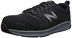 in budget affordable New Balance 412 V1 Men's Industrial Sneakers Aluminum Toe Cap Black / Silver 10.5 W US