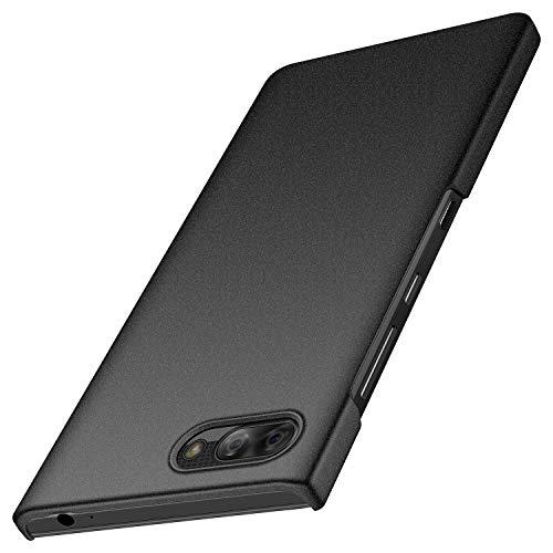 BlackBerry Key2 LE Hülle, Anccer [Serie Matte] Elastische Schockabsorption & Ultra Thin Design für BlackBerry Key2 LE (Kies Schwarz)