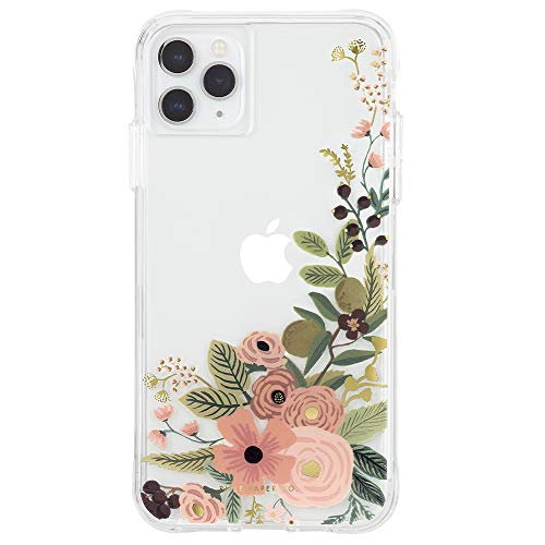 Rifle Paper CO. - iPhone 11 Pro Max Case - Gold Foil Accents - Clear Garden Party Rose