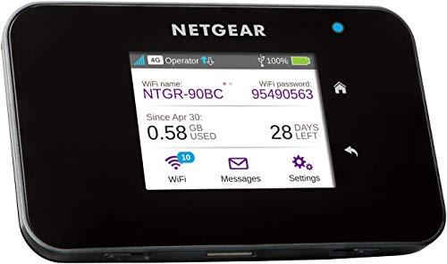 Netgear AC810 Mobiler WLAN Router / 4G LTE Router (AirCard mit bis zu 600 MBits/s Download-Geschwindigkeit, Hotspot für bis zu 15 Geräte, WiFi überall einrichten, für jede SIM-Karte freigeschaltet)
