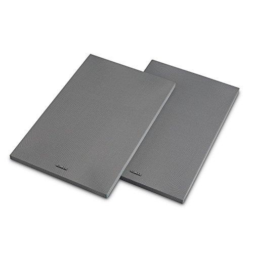 NUMAN Reference 802 Cover - Standlautsprecher-Abdeckung, Schutzgitter, Paar, abnehmbar, magnetisches Halterungssystem ohne Pins und Stecker, Silber