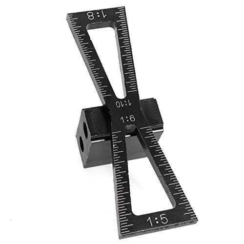 Magic&shell Dovetail Marker Black Woodworking Dovetail Rule HandCut Wood Joints Gauge Dovetail Guide Tool